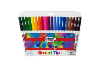 20pc Texta The Original Smart Cone Tip Markers Water Based Kids Drawing Pens