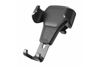 Universal Gravity Car Holder Mount Air Vent Stand Cradle For Mobile Cell Phone Samsung Galaxy S8Plus-Black
