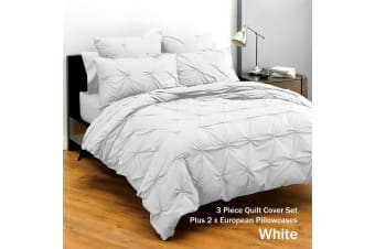 Altamont White Quilt Cover Set with Eurocases by Deco
