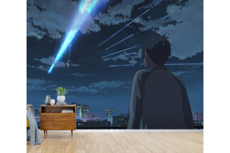 3D Your Name 079 Anime Wall Murals Woven paper (need glue), XXXXL 520cm x 290cm (WxH)(205''x114'')