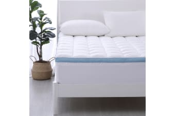 Dreamaker 800gsm Cool Breathe Memory Fibre Mattress Topper  QB