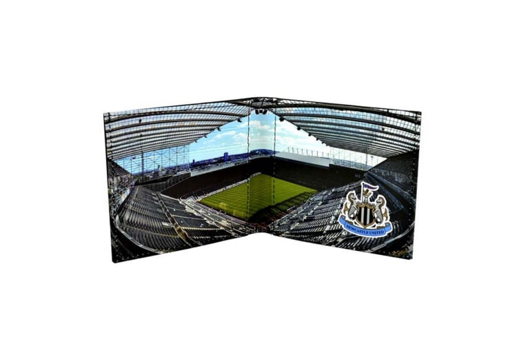 Newcastle United FC Official Stadium Design Leather Wallet (Black) (One Size)
