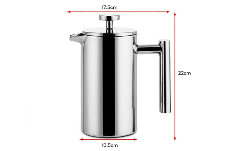 Ovela Stainless Steel Double Wall Coffee Plunger 1000ML