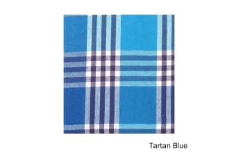 Check Table Cloth Tartan Blue 180 cm Diameter Round