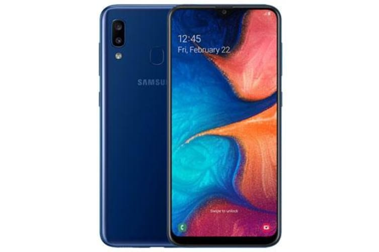 New Samsung Galaxy A20 Dual SIM 32GB 4G LTE Smartphone Blue (FREE DELIVERY + 1 YEAR AU WARRANTY)