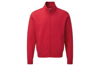 Russell Mens Authentic Full Zip Sweatshirt Jacket (Classic Red) (S)