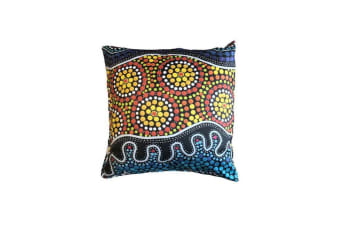 Seaside Aboriginal Design Cushion Cover
