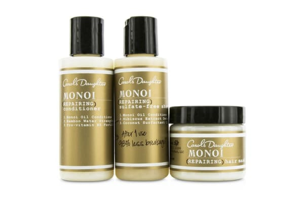 Carol's Daughter Monoi Repairing Collection 3-Piece Starter Kit: Shampoo 60ml + Conditioner 60ml + Hair Mask 60ml 3pcs
