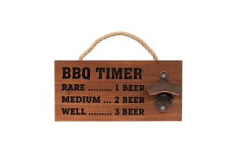 Avanti Wall Mountable Hanging Beer Bottle Opener Wooden Board Tool f  BBQ Bar