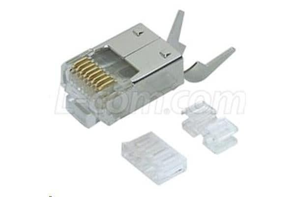 HyperLink Technologies TDS8PC6-50PK Cat6 Shielded RJ45 Plug with Strain Relief - 50PK