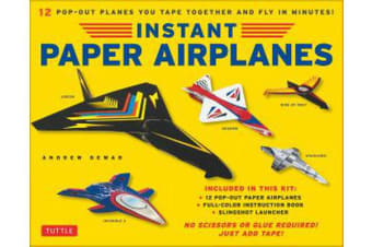 Instant Paper Airplanes for Kids - Pop-out Airplanes You Tape Together and Fly in Seconds!