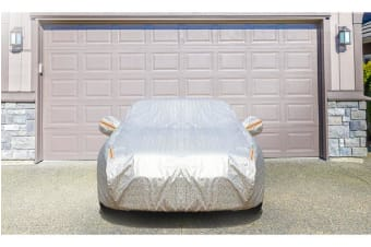 Aluminum waterproof car cover for big hatchback and Medium sedan 3XL