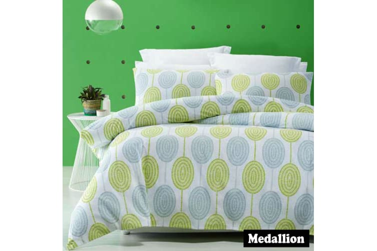 Medallion Quilt Cover Set SINGLE
