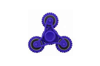 3D Hand Spinner Fidget Toy Gear Style Stress Reliever Fast Bearing Spin Blue