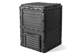 PLANTCRAFT 290L Aerated Compost Bin Grey - Food Waste Garden Recycling Composter