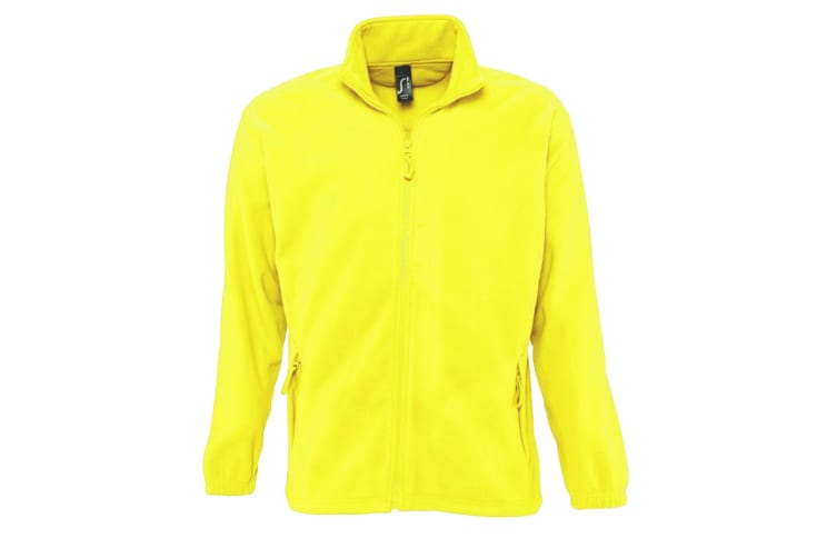 SOLS Mens North Full Zip Outdoor Fleece Jacket (Neon Yellow) (XXL)