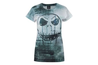 Nightmare Before Christmas Womens/Ladies Jack Face Sublimation T-Shirt (White)