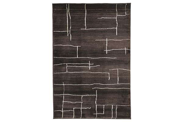 Morrocan Paved Design Rug Chocolate 230x160cm