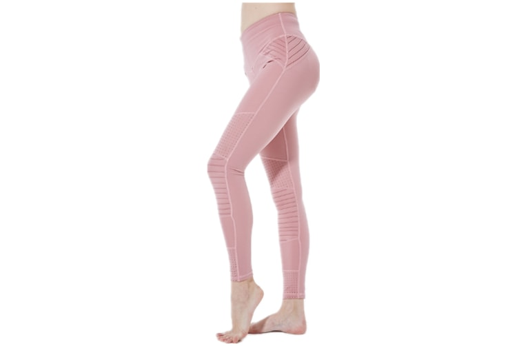 Yoga Pants For Women Tights Elastic Hight Waist Pants Fitness Leggings Pink M