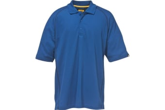 Caterpillar C1620520 Performance Polo Shirt Mens Workwear / Mens Polo Shirts (Bright Blue) (Large)