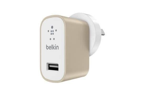 BELKIN MIXITUP METALLIC PREMIUM UNIVERSAL CHIPSET WALL CHARGER - GOLD