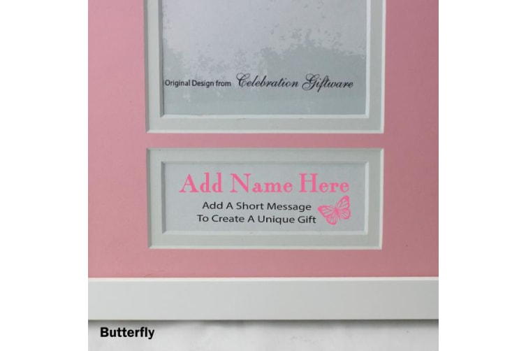 Personalised Nanna Photo Frame 4x6 White Wood Pink