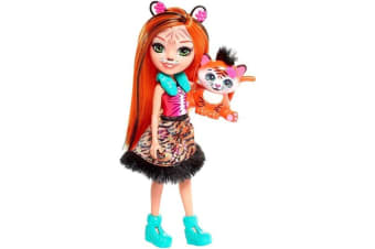 """Enchantimals 6"""" Doll - Tanzie Tiger and Tuft Pet"""