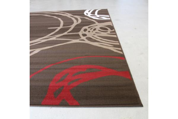 Scribble Modern Rug Brown 330x240cm