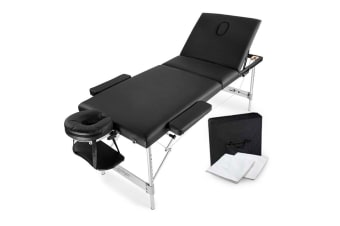HPF Black 3 72cm Folding Massage Table