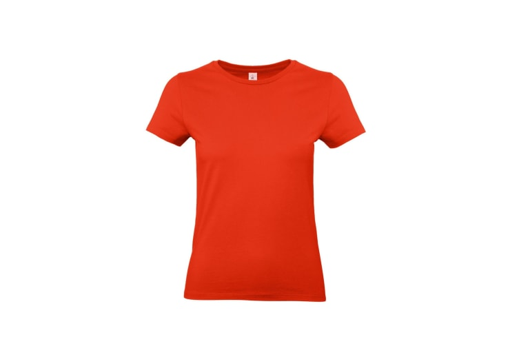 B&C Womens/Ladies #E190 Tee (Fire Red) (2XL)