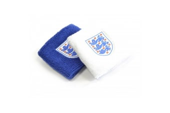 England Wristbands Pack Of 2 (Blue/White)