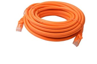 8Ware Cat6a UTP Ethernet Cable 10m Snagless Orange