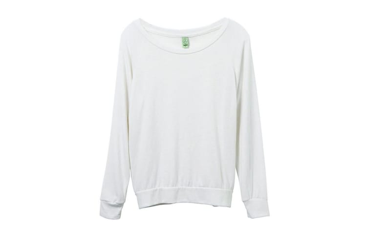 Alternative Apparel Womens/Ladies Eco-Jersey Slouchy Pullover (Eco Ivory) (L)