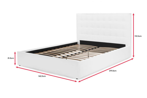 Shangri-La Bed Frame - Symphony Collection (White, Queen)