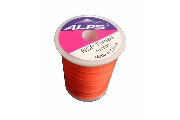 Alps 100yds of Lumin Orange Rod Wrapping Thread - Size A (0.15mm) Rod Binding Cotton