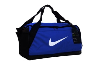 Nike Brasilia Training Duffel Bag (Blue, Size Small)
