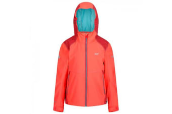 Regatta Childrens/Kid Acidity III Reflective Softshell Jacket (Fiery Coral/Coral Blush) (3-4 Years)