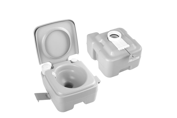 Portable Camping Toilet : Weisshorn 20l portable camping toilet with carry bag kogan.com