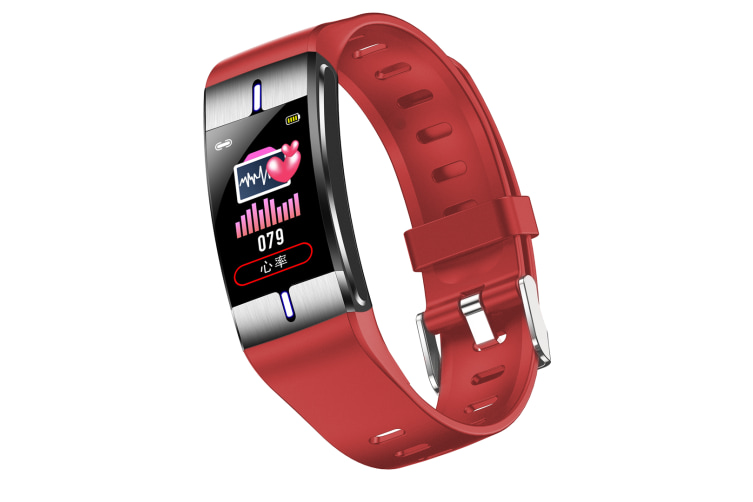 Select Mall 1.08 Inch High-definition Color Screen Intelligent Sports Detectable Body Fat and Other Waterproof Bracelet-Red