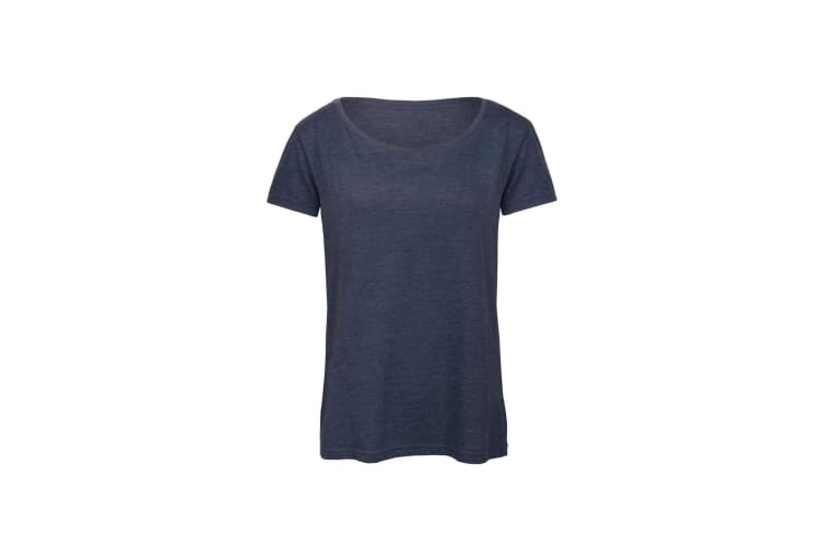 B&C Womens/Ladies Favourite Cotton Triblend T-Shirt (Heather Navy) (M)