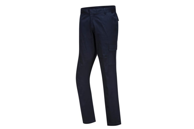 Portwest Mens Stretch Slim Combat Trousers (Dark Navy) (38R)