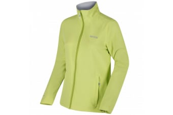 Regatta Great Outdoors Womens/Ladies Connie III Full Zip Softshell Jacket (Lime Zest/White) (22)