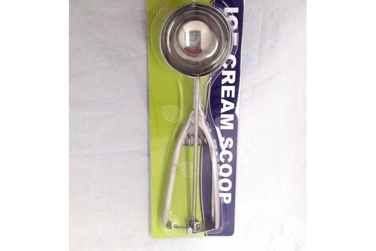 2x Stainless Steel Ice Cream Craft Scoop Cookie Mash Muffin Spoon