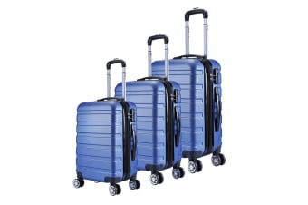 Milano Luggage XPander Series 3 Piece Set (Blue)