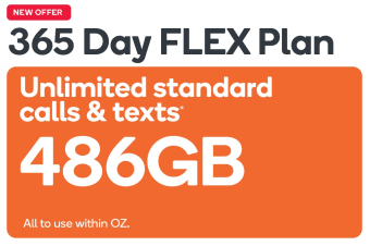 Kogan Mobile Prepaid Voucher Code: EXTRA LARGE (365 Days FLEX | 486GB)