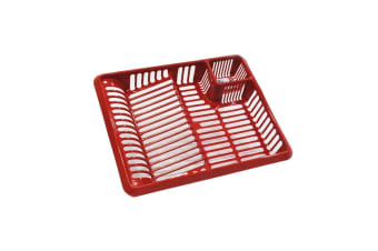 TML Large Dish Drainer (Red Glitter) (One Size)