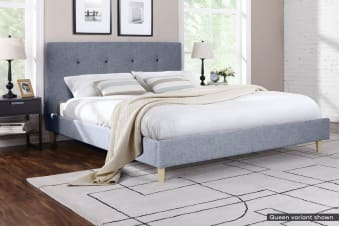 Ovela Bed Frame - Arezzo Collection (Pewter Grey)