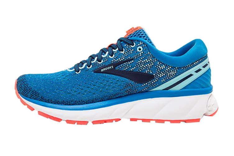 Brooks Women's Ghost 11/FA18 (Blue/Navy/Coral, Size 7)