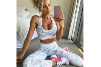 Women'S Fashion Camouflage Print Yoga Sports Suits Pink S