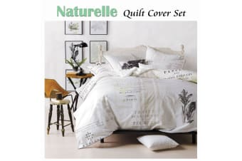 Naturelle Quilt Cover Set QUEEN by Linen House